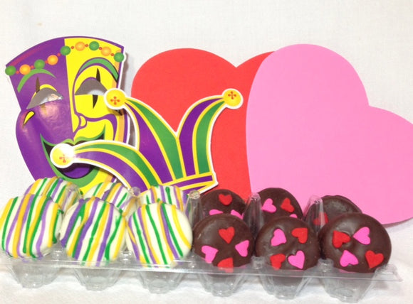 Valentine's Day & Mardi Gras Chocolate Dipped Oreos
