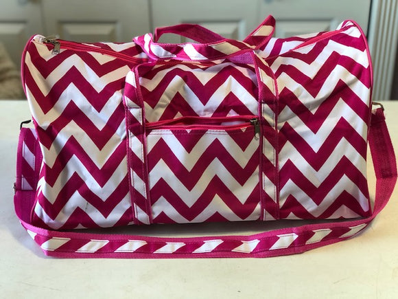 Pink Chevron Overnight Bag