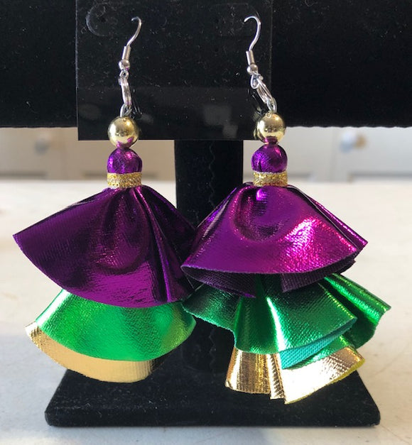 Metallic Mardi Gras Earrings