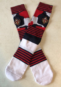 New Orleans Pelican socks (red, white & blue) ladies