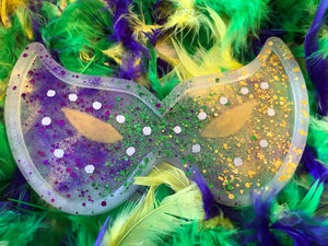 Mardi Gras Resin Mask
