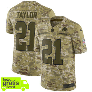 98231fa6eed37 CAMISA NFL FUTEBOL AMERICANO WASHINGTON REDSKINS  21 TAYLOR – Top ...