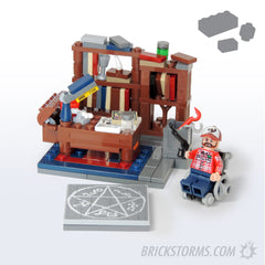 Custom LEGO Bobby's Supernatural Study Parts and Instructions - BRICKSTORMS  - 1