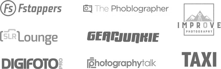 F-Stoppers, The Phoblographer, Improve Photography, SLR Lounge, Gear Junkie, Digifoto Pro, Photography Talk, TAXI
