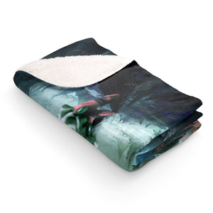 goku vs broly Sherpa Fleece Blanket