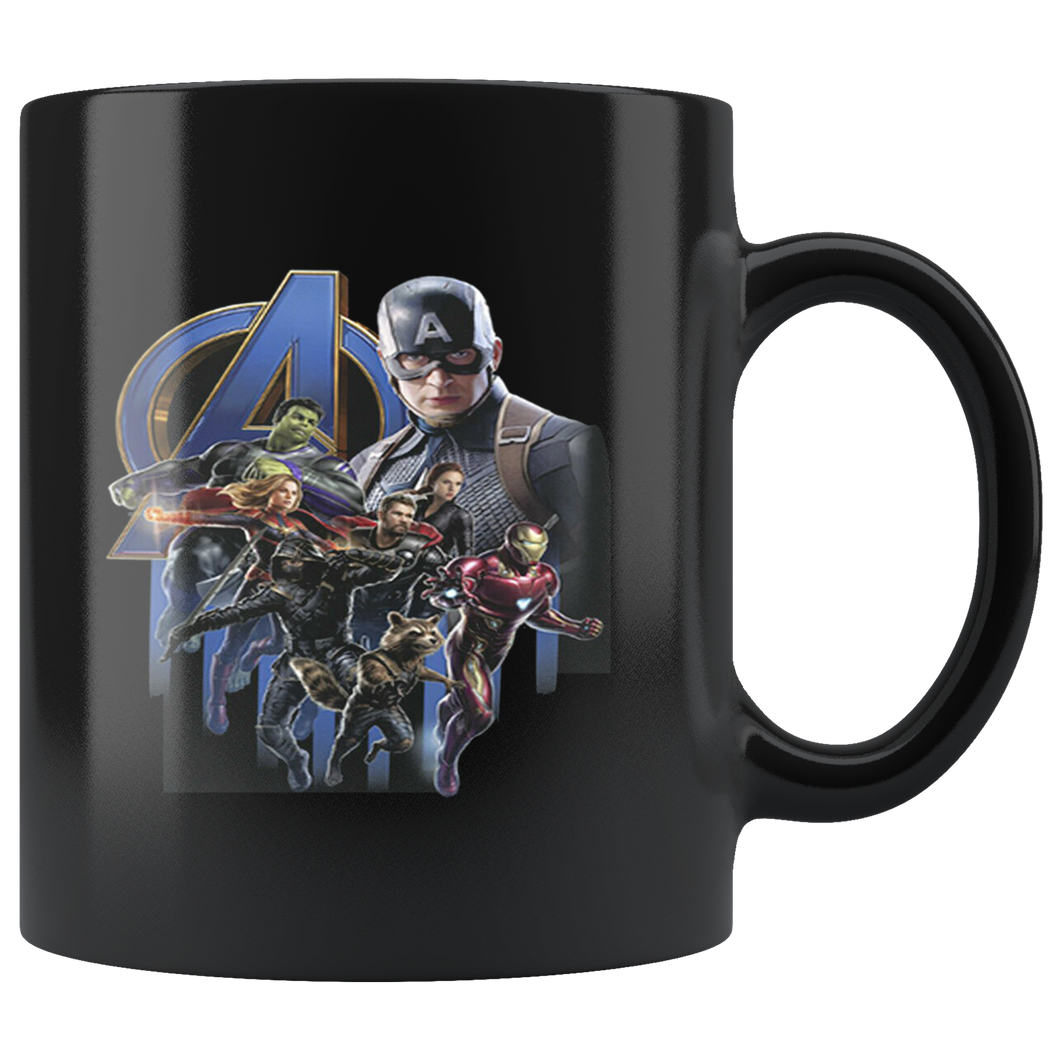 Captain America Superheroes Avengers Endgame Mug Black Ceramic 11oz MUG