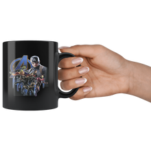 Load image into Gallery viewer, Captain America Superheroes Avengers Endgame Mug Black Ceramic 11oz MUG