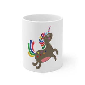 smiling unicorn White Ceramic Mug