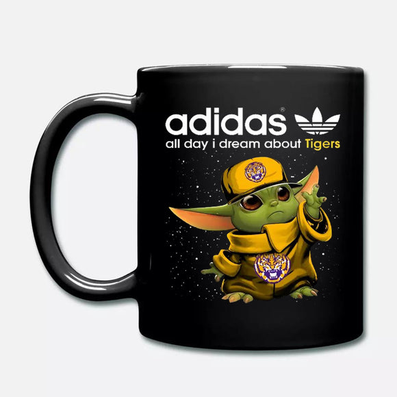 Baby Yoda Adidas All Day I Dream About LSU Tigers NCAA