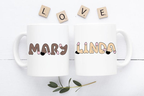 Best Friend mug, valentine mug, penis mug, funny mug, Loves Cock, Personalized Penis Mug, Personalized Cock, cock mug, willy Name mug