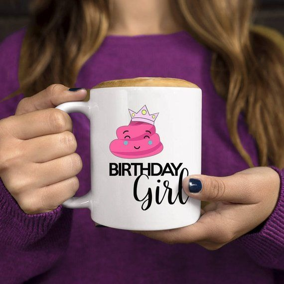 Birthday Poop Emoji, Funny Coffee Mug, Birthday Gift