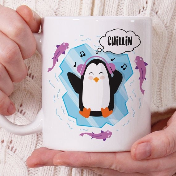 Chillin' Penguin Coffee Mug