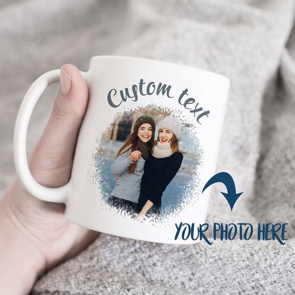 Custom Coffee Mug With Your Photo And Text, Personalized Gift For Friend, Cute Custom Mug