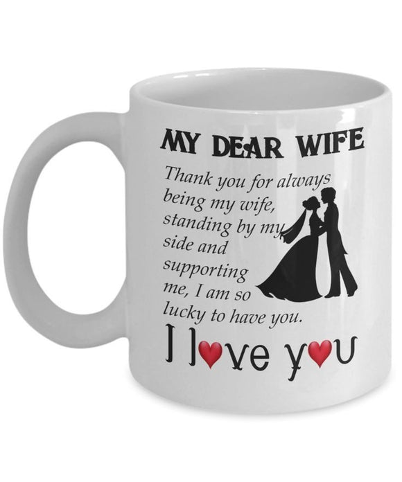 Dear my wife, Thank you for always being my wife, standing by my side
