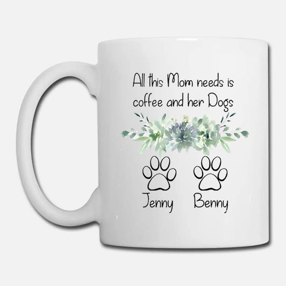 Dog Mom Mug  Personalized Dog Mom Gift for Women  Dog Mom Coffee Cup  Dog Mom Coffee Mug  Dog Mom Mothers Day Gift for Dog Lover  Paw