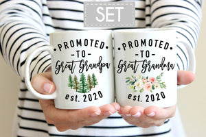 Great grandparents mug set, Great grandparents pregnancy announcement mugs, Great grandparents mugs, Great Grandma Mug, Great Grandpa Mug