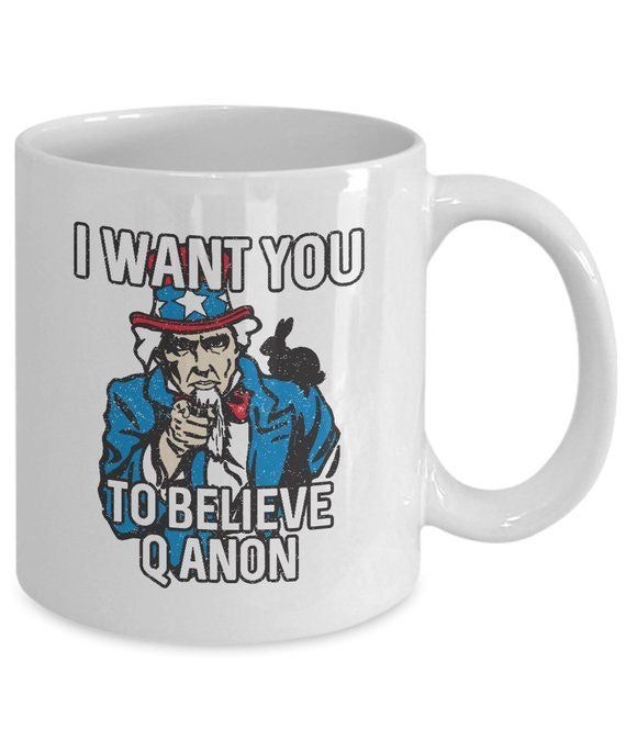 Items similar to Qanon Coffee Mug 11oz White - Q Anon Ceramic Cup, American Flag, Patriotic, Patriot, Trump
