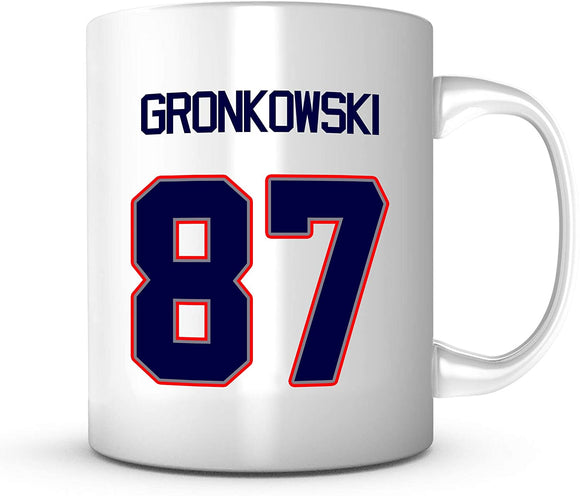 Rob Gronkowski Number 87 Mug - Jersey Number Football 11oz Mug