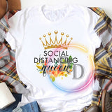 Social Distancing Queen Quarantine 2020 T Shirt
