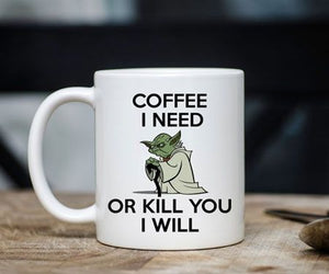 Yoda Coffee I Need Mug - Awesome