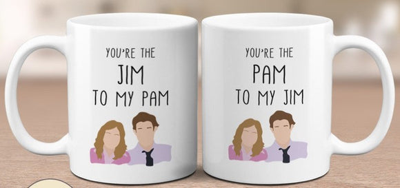 You Are My Pam, Jim - Couple Gift Mugs Set for Lovers, His and Hers Coffee Mug Set, gift for couple, gift for boyfriend, gift for girlfriend