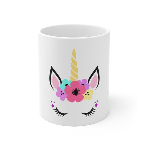 unicorn, cute unicorn White Ceramic Mug