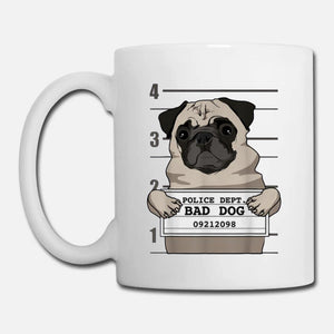 best  price  bad  dog  pug  jail mug shot prisoner