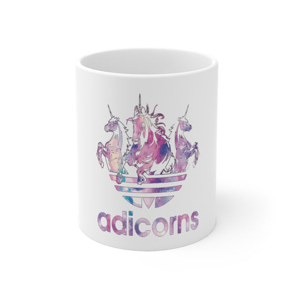 Adicorns Unicorns White Ceramic Mug