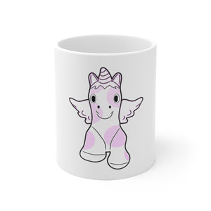 Baby unicorn White Ceramic Mug
