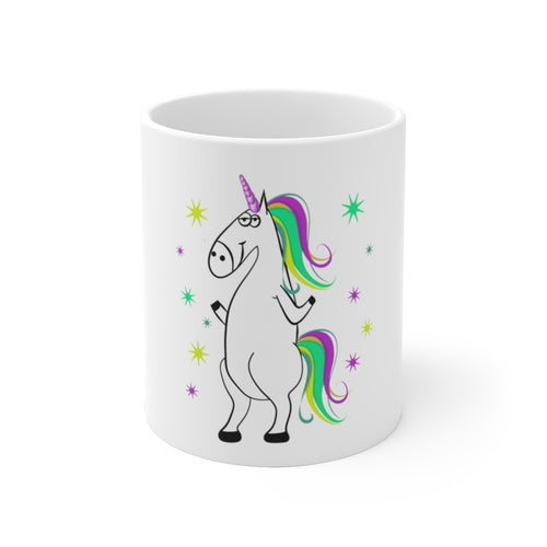 Unicorn White Ceramic Mug