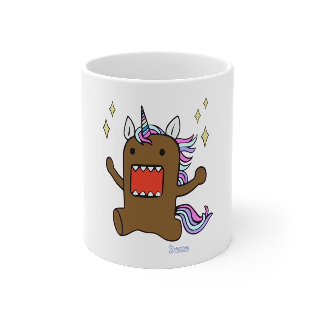 Domo Unicorn White Ceramic Mug