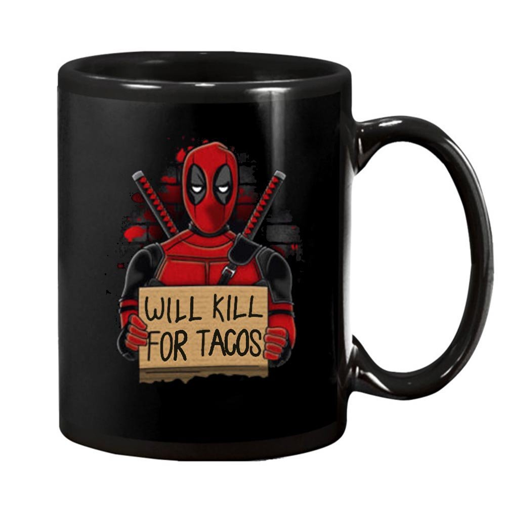 Deadpool Tacos Will Kill For Funny Superhero Mercenary Francis Action 11 oz mug