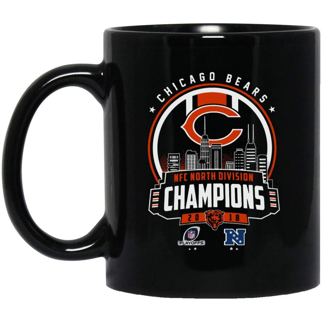 Chicago bears NFC North Division Champion 2018 Playoffs  11 Oz Mug