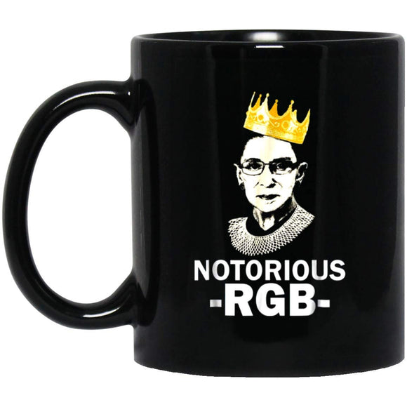 Rbg Ruth Bader Ginsburg Notorious 3 11 Oz. Black Mug