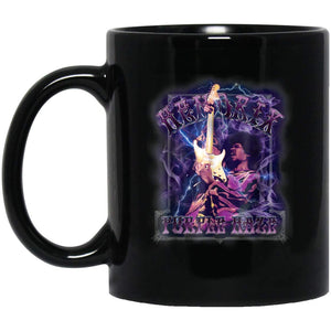 Jimi Hendrix Purple Haze Psychadelic Smoke 11 oz. Black Mug