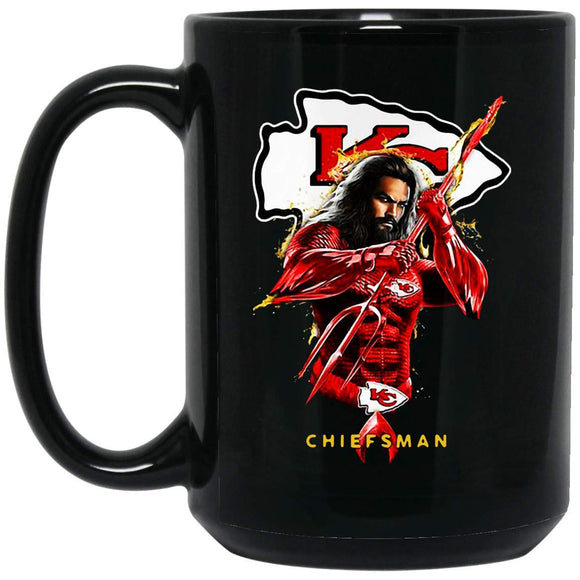 Kansas City CHIEFS CHIEFSMAN AQUAMAN S 15 oz. Black Mug