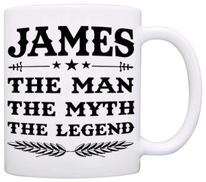 Personalized!! Papa The Man The Myth The Legend Coffee Mug, Gift for Dad and Grandpa, Perfect Present for Birthday Christmas and Fathers Day