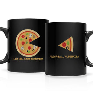 I Like You More Than Pizza Matching Couple mugs Valentines Day Gift- Valentines Day Gift Idea