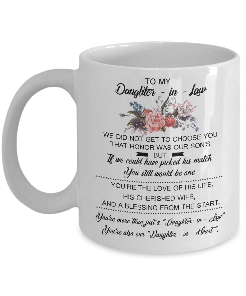 To My DAUGHTER IN LAW - This Mug Makes A Perfect Gift