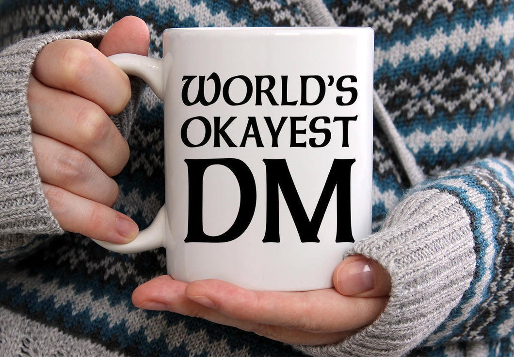 World's Okayest DM Mug - Dungeons And Dragons Coffee Mug