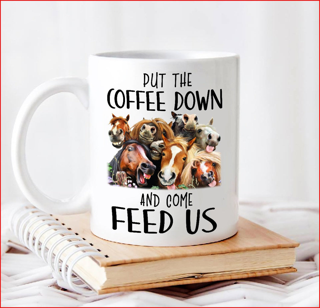Put the Coffee down and come feed us 11 oz mugs mug