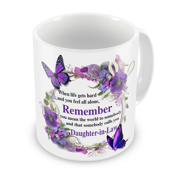 Details about  That Somebody Calls You Daughter-In-Law Novelty Floral Gift Mug  11 oz mugs mug