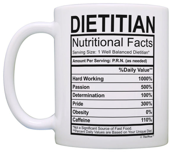 Registered Dietitian Gifts for Women Dietitian Nutritional Coffee Mug Tea Cup  11 oz mugs mug
