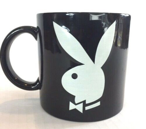 Details about  2003 Playboy 16oz Black And White Coffee Tea Mug Cup Rare Collectors Item .  11 oz mugs mug