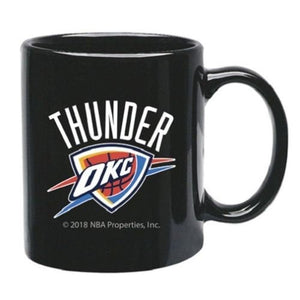 Oklahoma City Thunder NBA Black Ceramic Coffee Mug  11 oz mugs mug