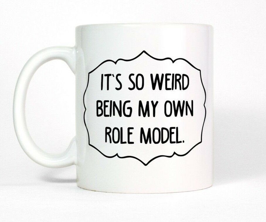 Mindy Kaling Role Model Funny Quote Coffee Mug Gift for Women and Men 11 oz mugs mug