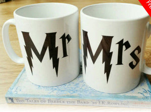 Details about  Harry Potter Mr and Mrs gift Mug set - Wedding Gifts Engagement gifts Mugs Cup 11 oz mugs mug