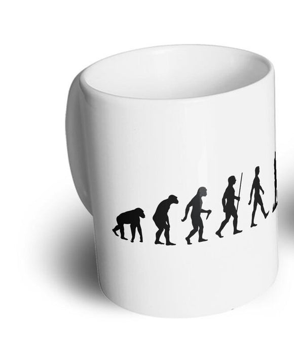 Novelty Tea Cup Mug The Evolution of Clay Pigeon Shooting Hobby Sport Activity  11 oz mugs mug