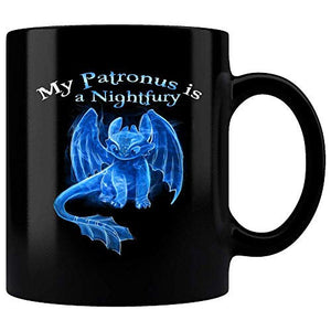 My Patronus Is A Night Fury Toothless How To Train Dragon Mug, Toothless dragon mug 11 oz mugs mug