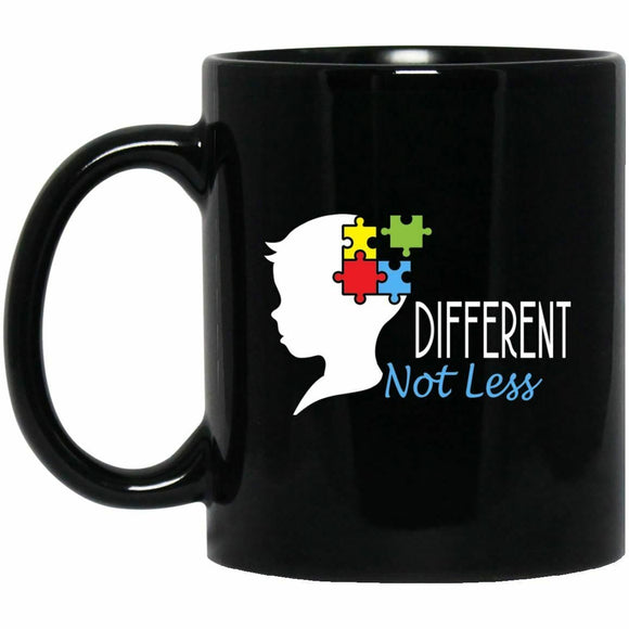 Autism Awareness Mug Different Not Less Black Coffee Mugs  11 oz mugs mug